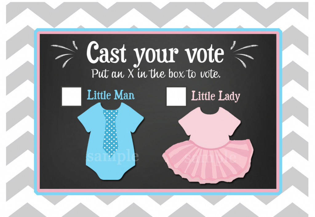 Gender Reveal Voting Cards Printable Little Man Or Little | Etsy | Printable Gender Reveal Voting Cards