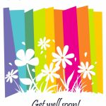 Get Well #card Free Printable   Fast Recovery Flowers Greeting Card | Feel Better Card Printable