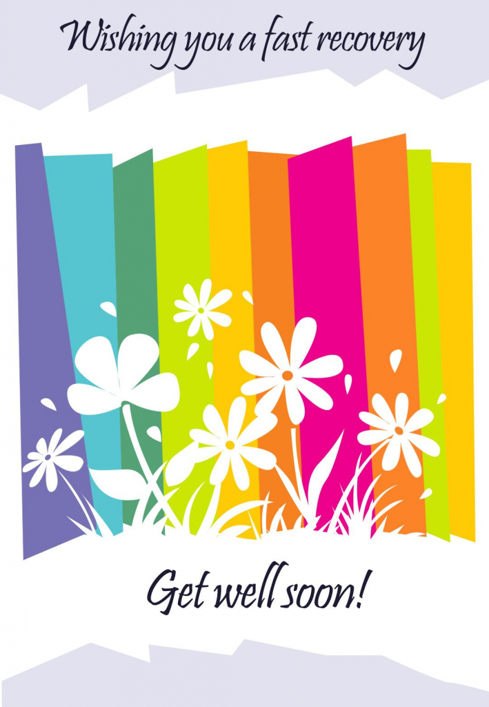 Get Well #card Free Printable - Fast Recovery Flowers Greeting Card | Feel Better Card Printable