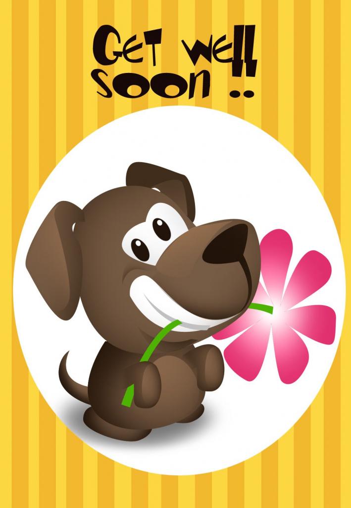 Get Well Soon Free Printable Get Well Soon Puppy Greeting Card   Get Well Soon Card Printable