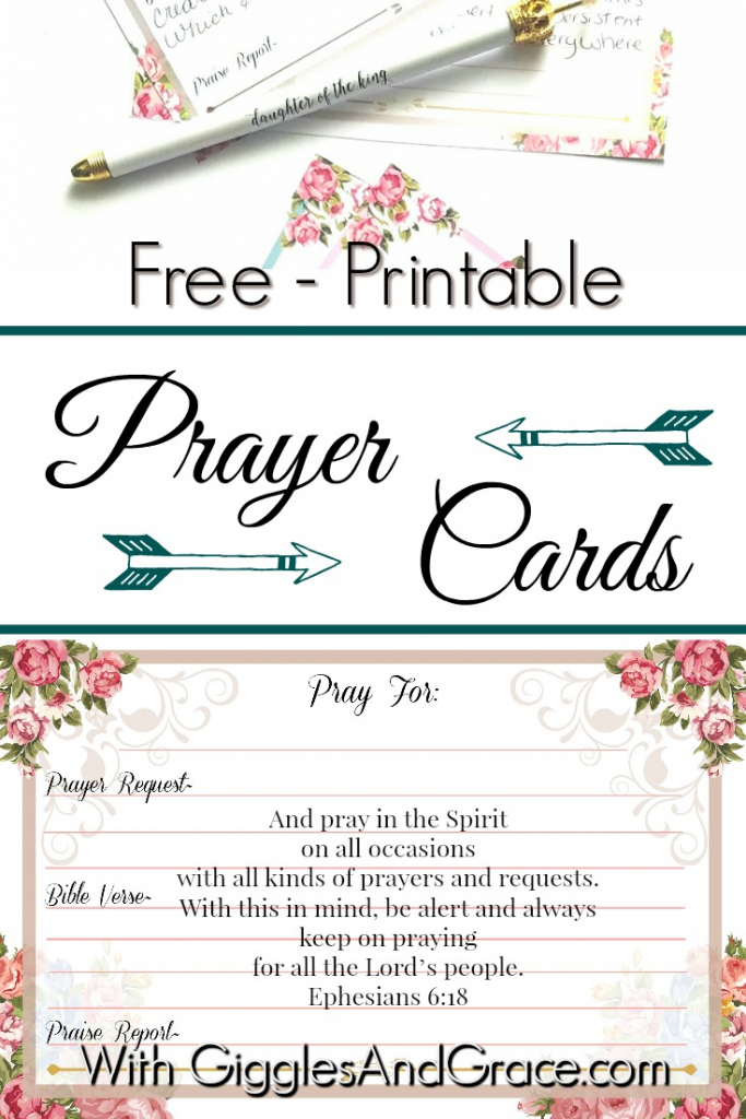 Get Your Free Printable Prayer Cards - With Giggles & Grace | Prayer Request Cards Printable
