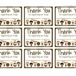 Girl Scouts: Brownies Free Printable Thank You Cards | Girl Scouts | Free Printable Eagle Scout Thank You Cards