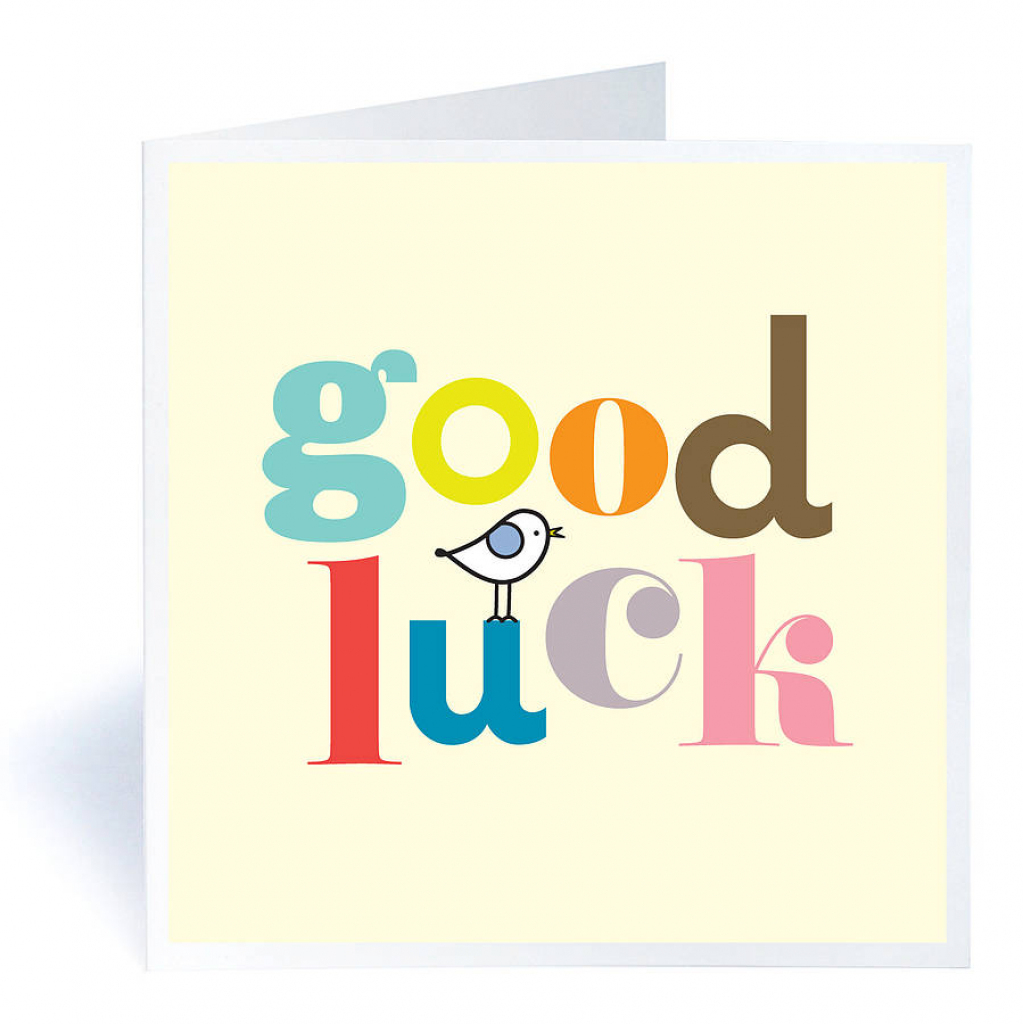 Good Luck Greeting Ecard | Printable Good Luck Cards For Exams