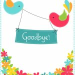 Goodbye Cards Printable Free   Kleo.bergdorfbib.co | Free Printable Good Luck Cards