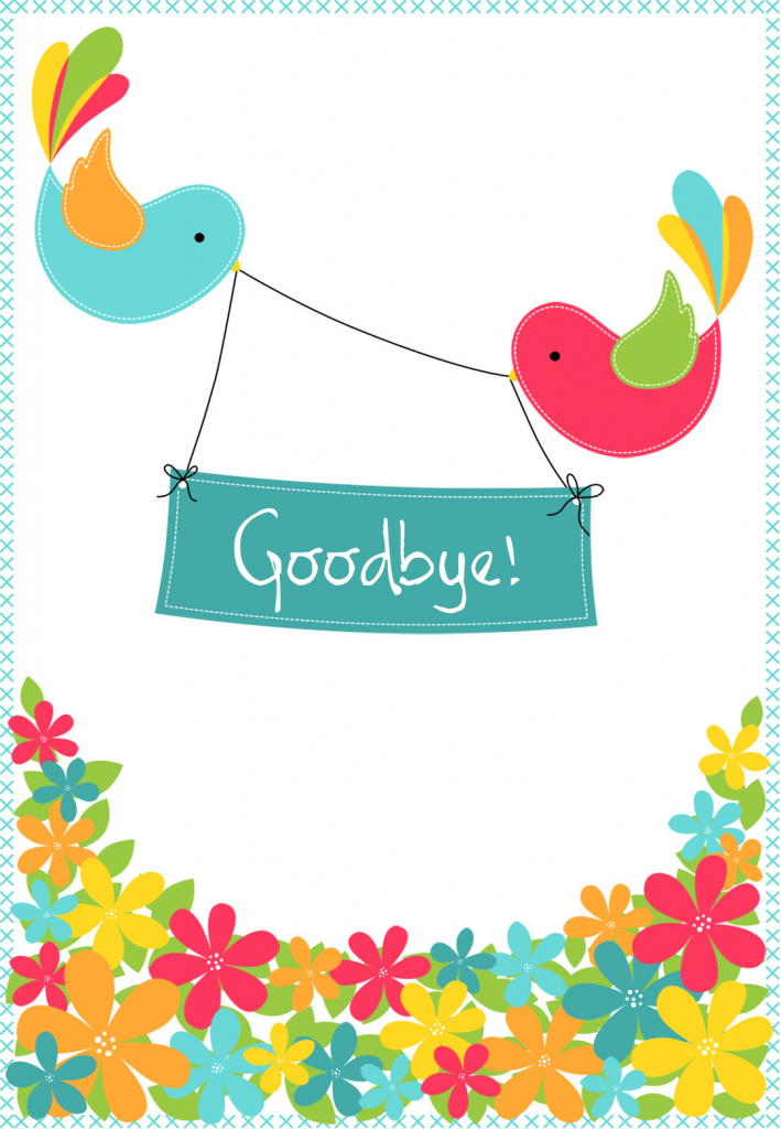 Goodbye Cards Printable Free - Under.bergdorfbib.co | Free Printable Goodbye Cards