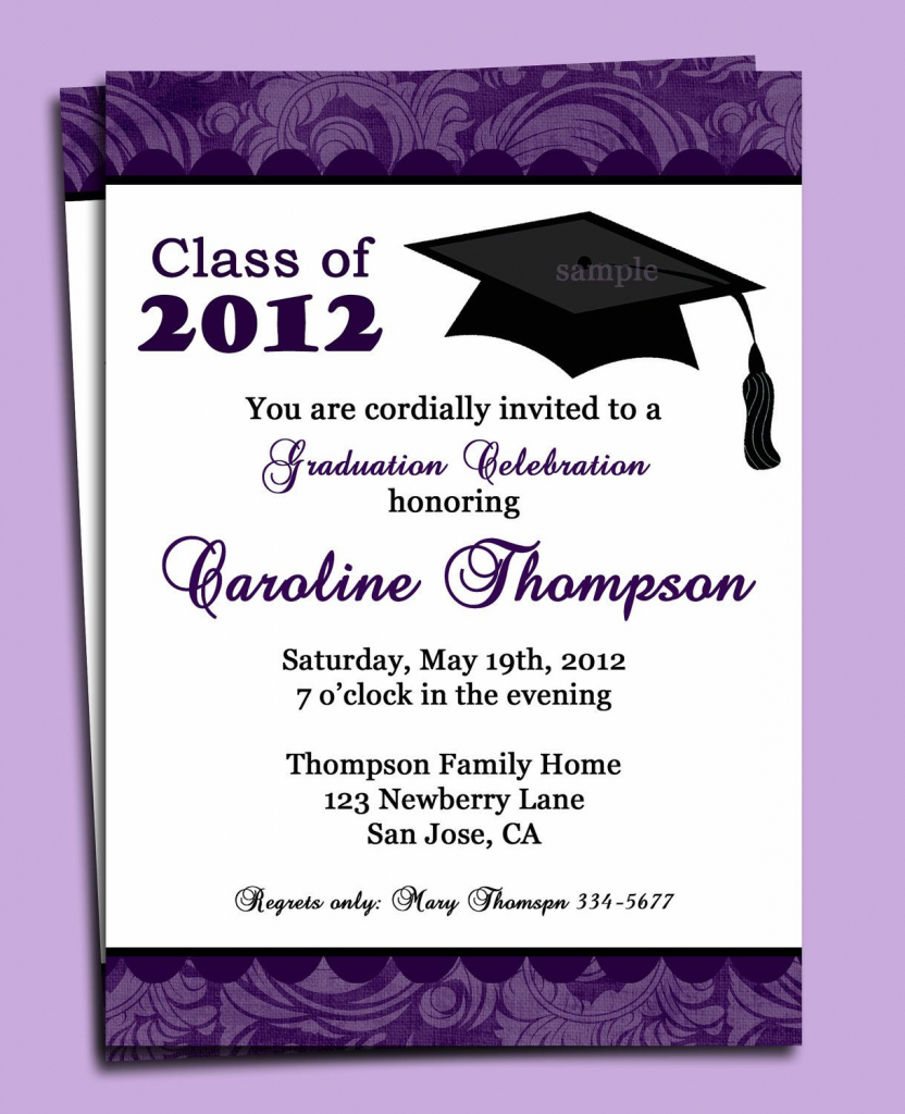 Graduation Party Or Announcement Invitation Printable - You Pick | Graduation Invitation Cards Printable