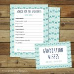 Graduation Wishes Advice Cards Printable Instant Download | Etsy | Free Printable Graduation Advice Cards