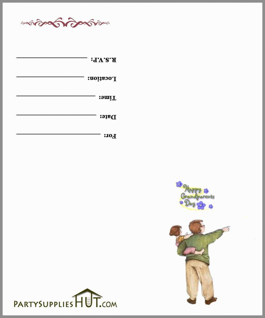 Grandparents Day Invitation Cards Printable Wonderfully Free   Grandparents Day Invitation Cards Printable