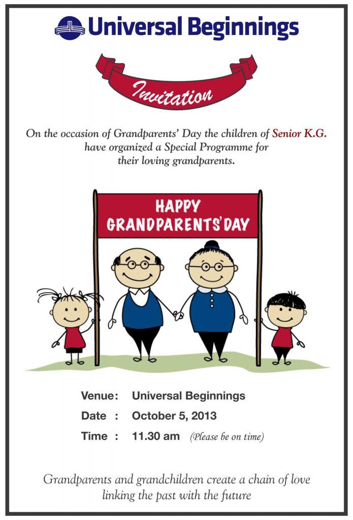 Grandparents Day Invitation Templates   Grandparents Day Invitation Cards Printable