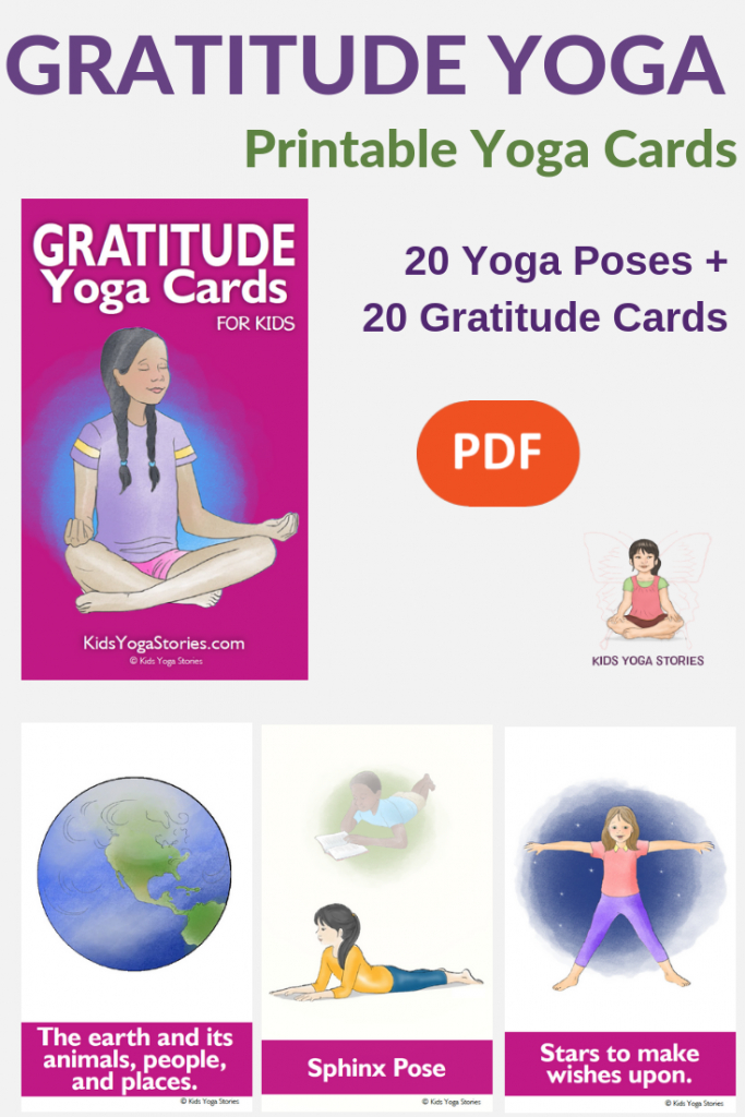 Gratitude Yoga Cards For Kids | Interesting.. | Yoga For Kids | Printable Yoga Cards For Kids