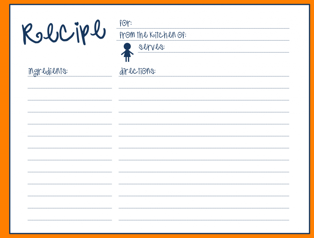 Great Collection Of Solutions For Printable Recipe Card Template | Printable Recipe Card Template