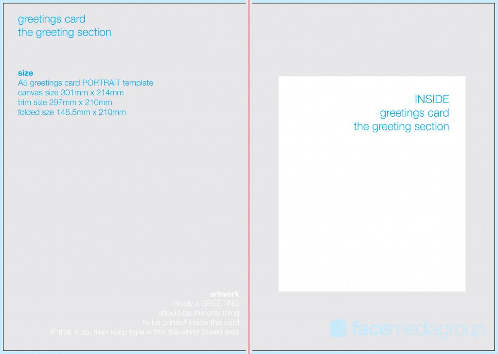 Greeting Card Template Free - Kleo.bergdorfbib.co | Free Printable Blank Greeting Card Templates