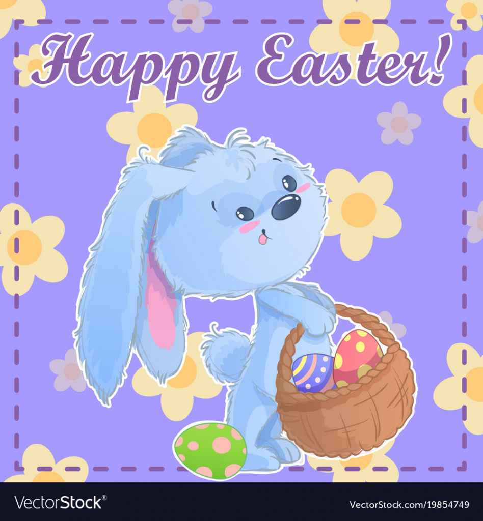 Greeting Post Card Printable Template Happy Easter | Happy Easter Cards Printable