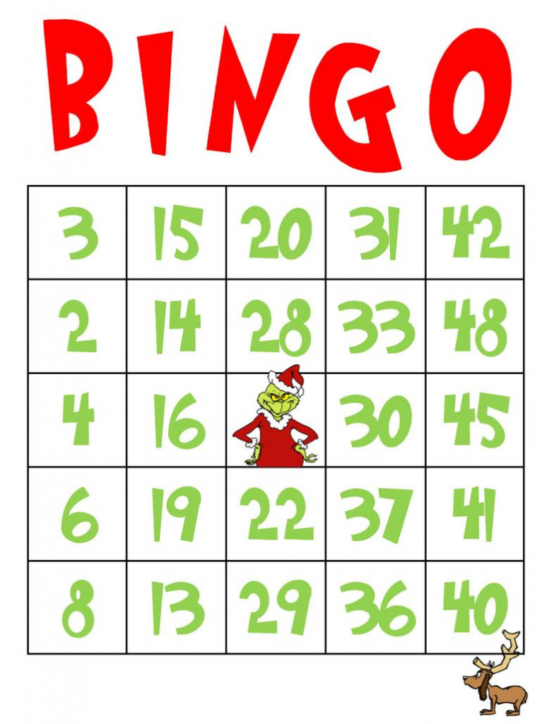 Grinch/stole Christmas/printable Cards/bingo | Etsy | Printable Card Games Pdf