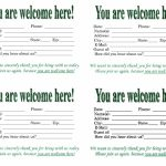 Guest Card Templates   Kleo.bergdorfbib.co | Printable Guest Cards For Apartments