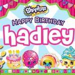 Hadley's Birthday Card #shopkinsbirthday   Free Blank Printable | Printable Shopkins Birthday Card