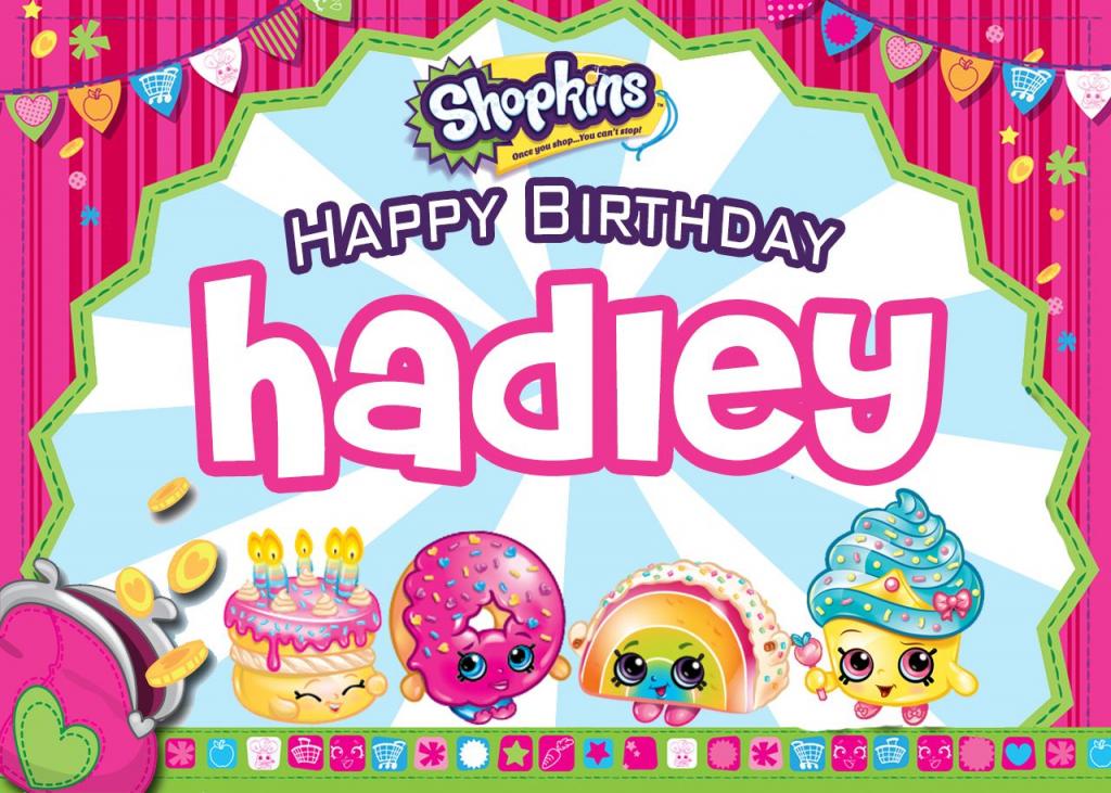 Hadley's Birthday Card #shopkinsbirthday - Free Blank Printable | Printable Shopkins Birthday Card