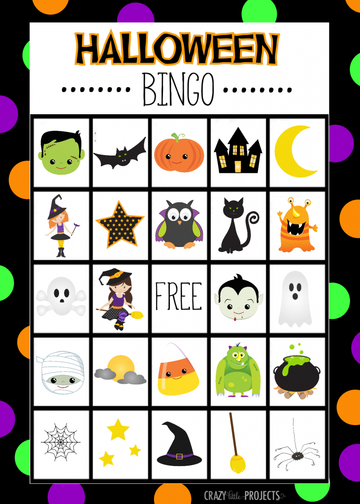 Halloween Bingo - Cute Free Printable Game | Halloween | Halloween | Halloween Picture Bingo Cards Printable