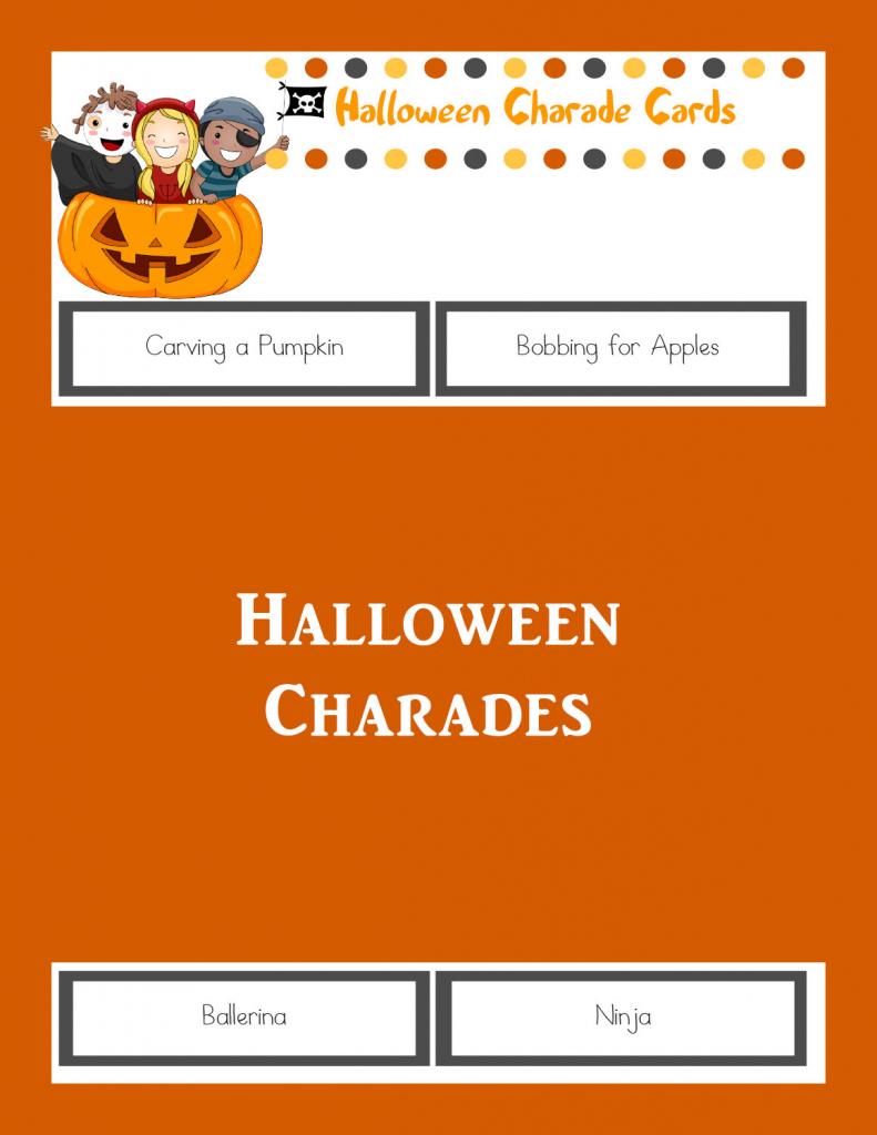 Halloween Charades: Printable Halloween Game - The Joys Of Boys | Free Printable Charades Cards
