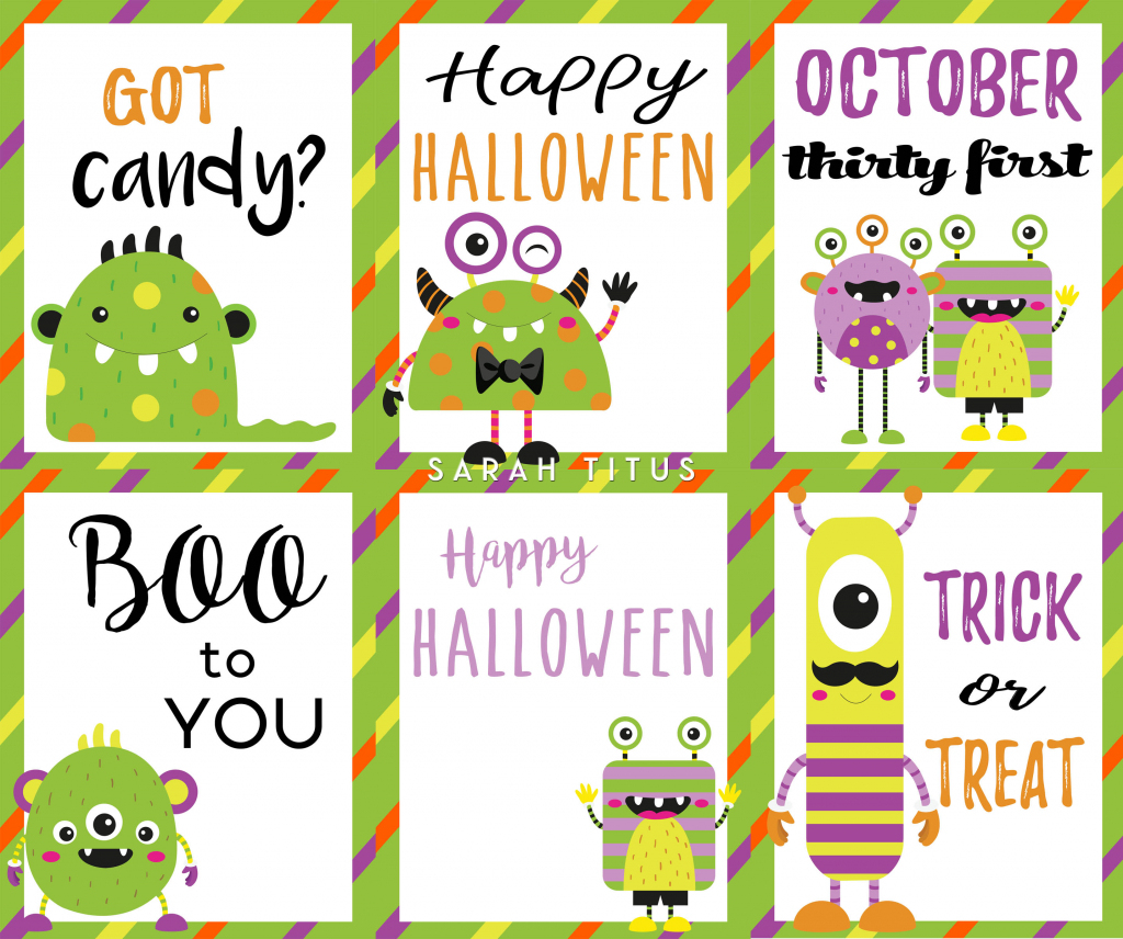 Halloween Free Printable Cards - Sarah Titus | Printable Halloween Cards To Color For Free