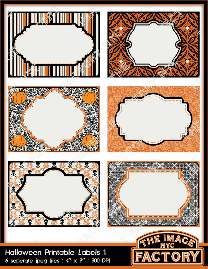 Halloween Printable Labels & Tags, For Gift Tags, Place Cards | Free Printable Halloween Place Cards