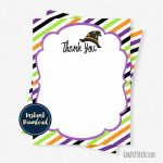 Halloween Thank You Cards Witch Thank You Birthday Thank You   Etsy   Halloween Thank You Cards Printable