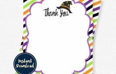 Halloween Thank You Cards Witch Thank You Birthday Thank You | Etsy | Halloween Thank You Cards Printable