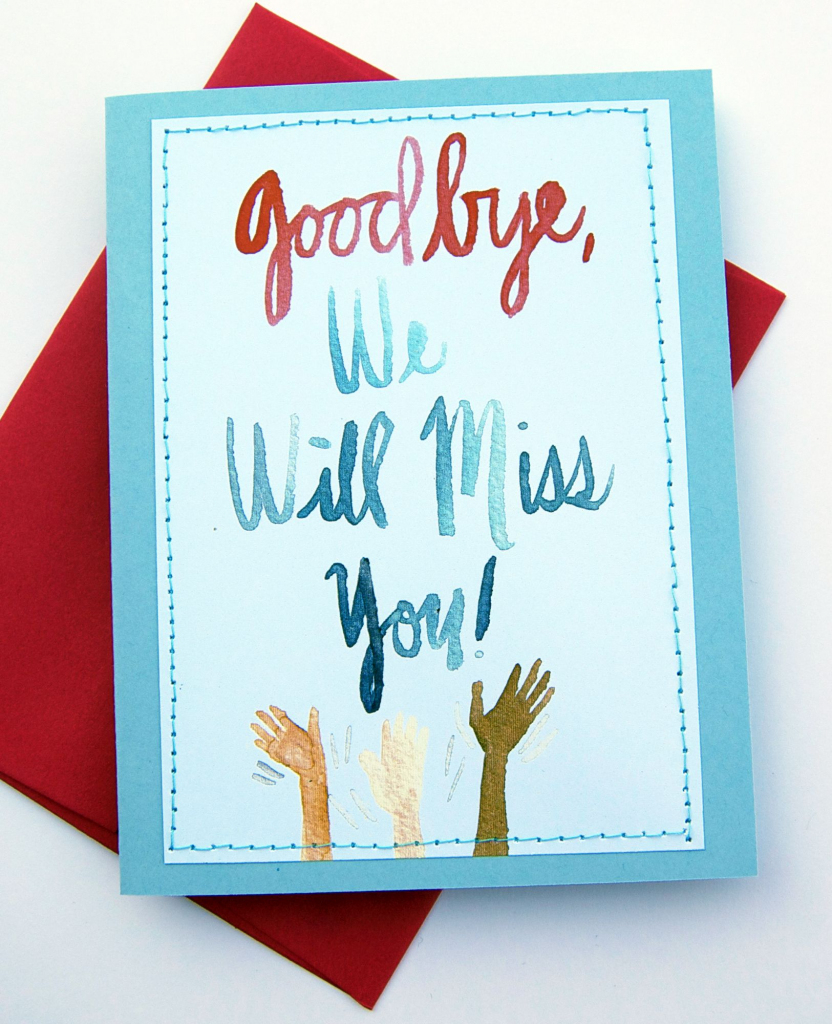 Handmade Card Design Blog. We Will Miss You Cards | Card Ideas | Printable Miss You Cards
