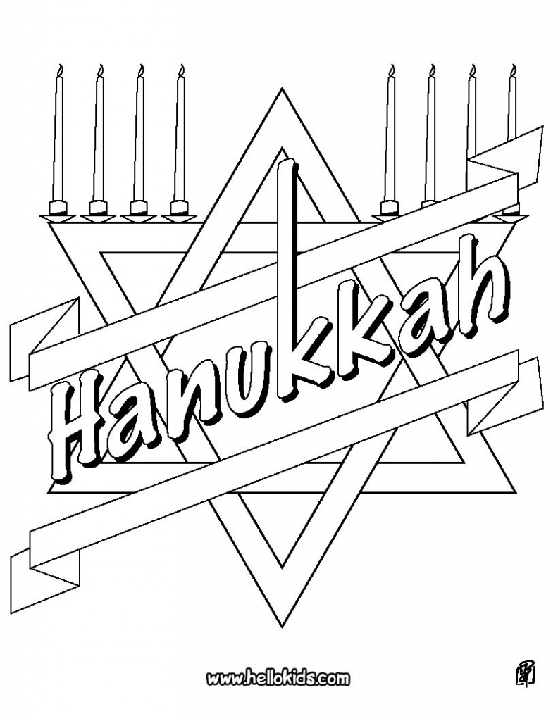 Hanukkah Coloring Pages - Coloring Pages - Printable Coloring Pages | Printable Hanukkah Cards To Color