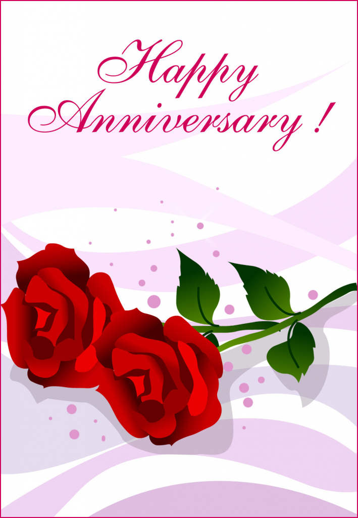 Happy Anniversary Roses - Happy Anniversary Card (Free) | Greetings | Printable Cards Free Anniversary