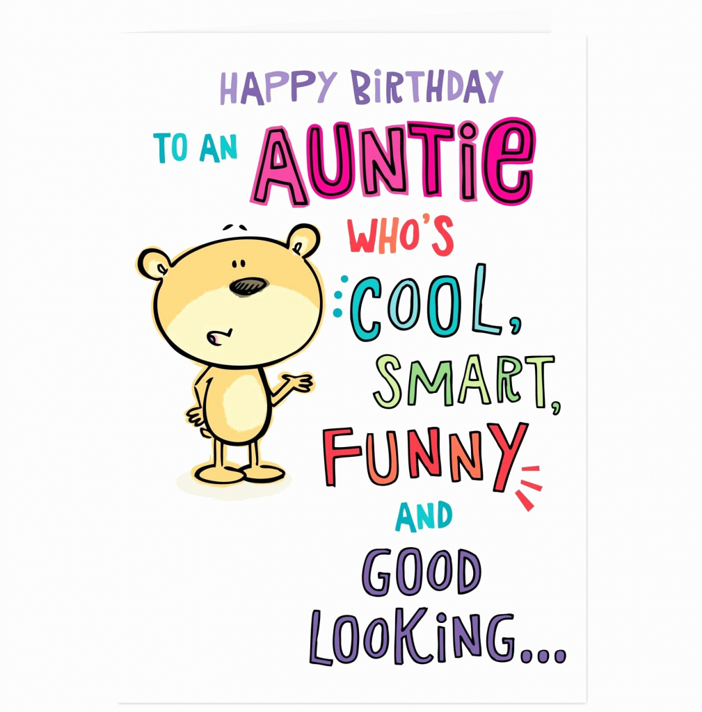 Happy Birthday Card For Aunt Plus Auntie Funny E Cards Free Unique | Birthday Cards For Aunt Printable