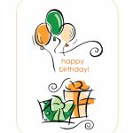 Happy Birthday Card (With Balloons, Quarter Fold) | The Office Printable Birthday Card