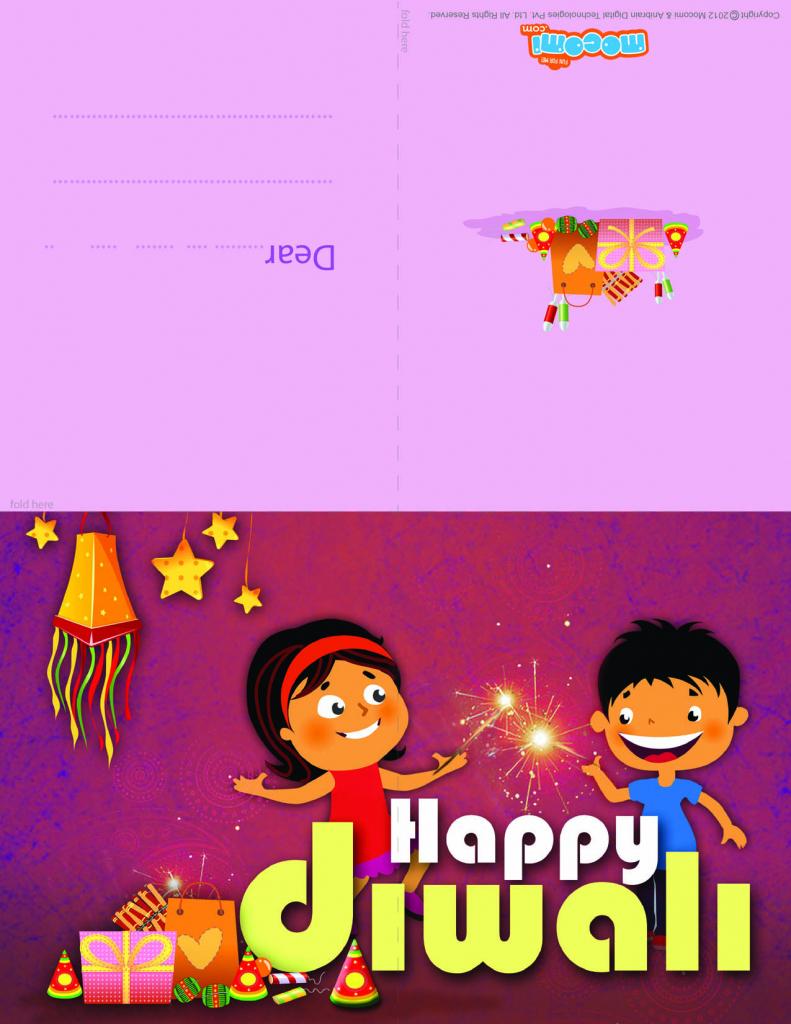 Happy Diwali - Diwali Greeting Card For Kids | Mocomi | Printable Diwali Greeting Cards