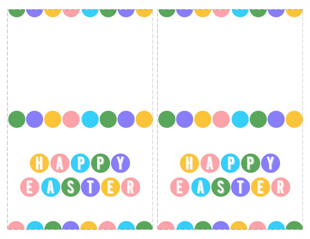 Happy Easter Cards Printable - Free - Paper Trail Design | Happy Easter Cards Printable