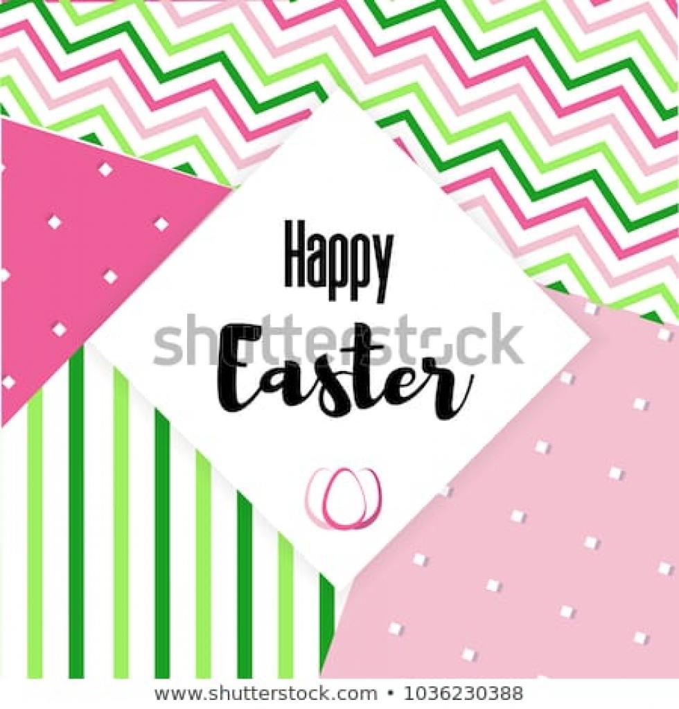 Happy Easter Greeting Card Minimal Creative Stock Vector (Royalty | Happy Easter Greeting Cards Printable