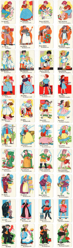 Happy Families, C.1950 - The World Of Playing Cards   Happy Families Card Game Printable