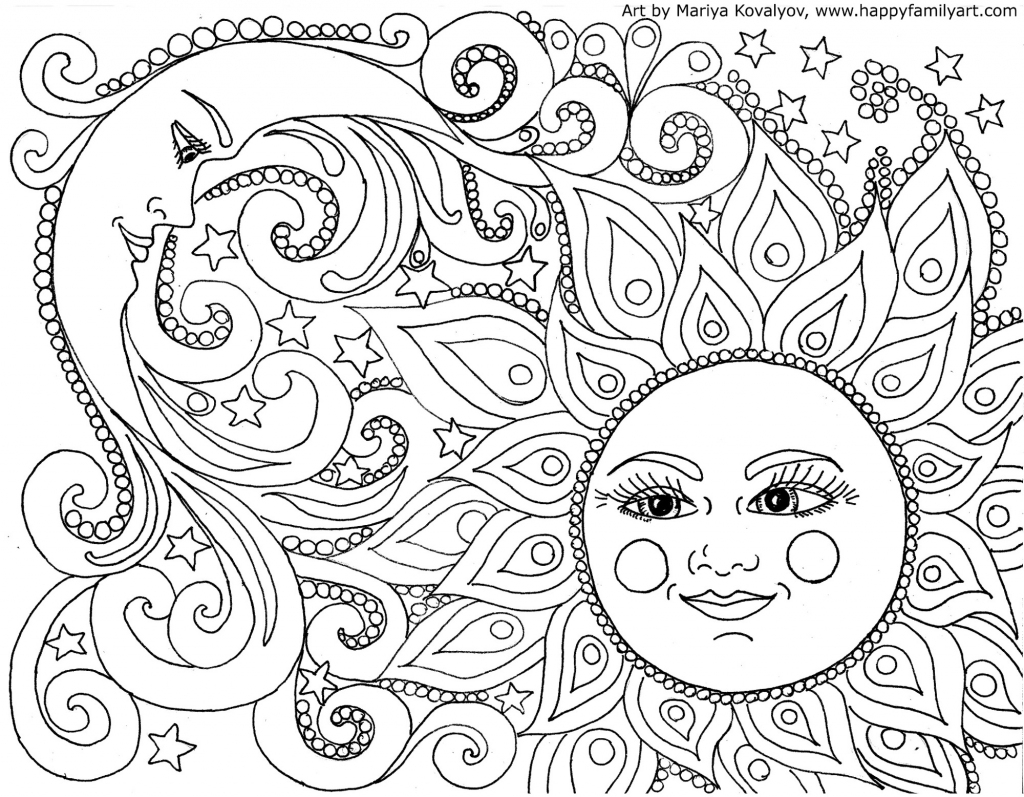 Happy Family Art - Original And Fun Coloring Pages | Free Printable Coloring Cards For Adults