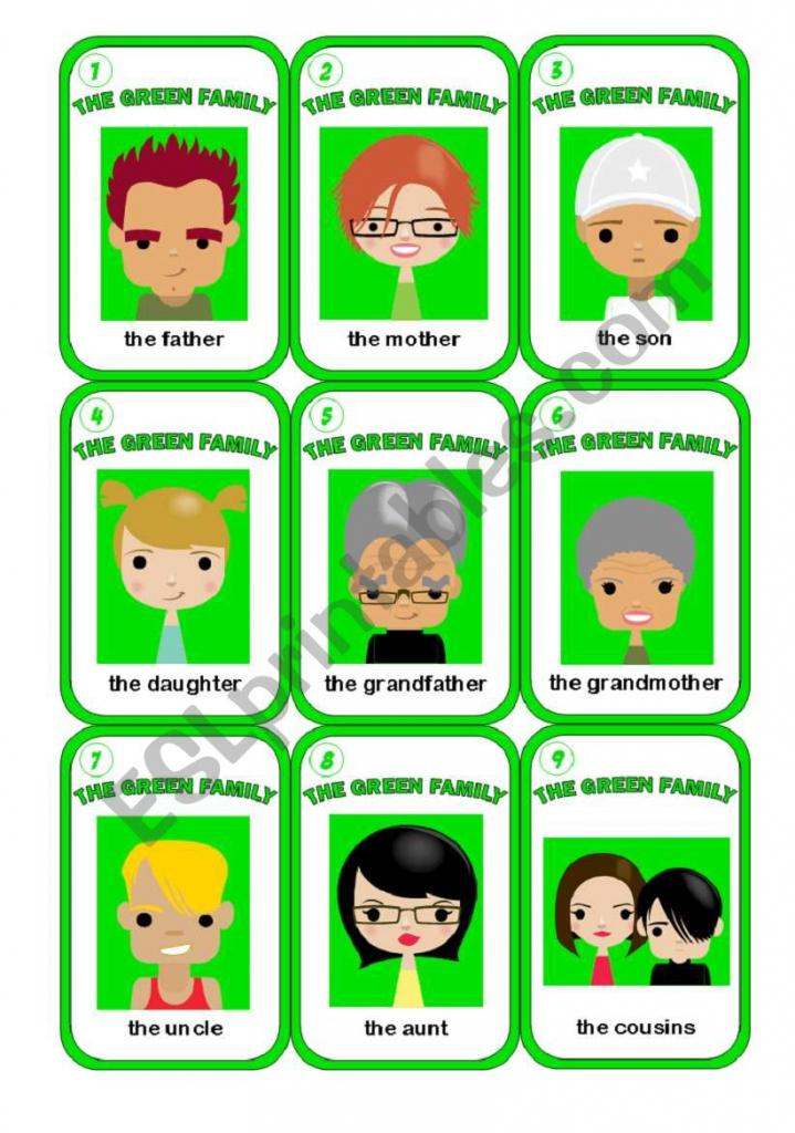 Happy Family Game 2/3 - Esl Worksheetmorrisons Eyes   Happy Families Card Game Printable