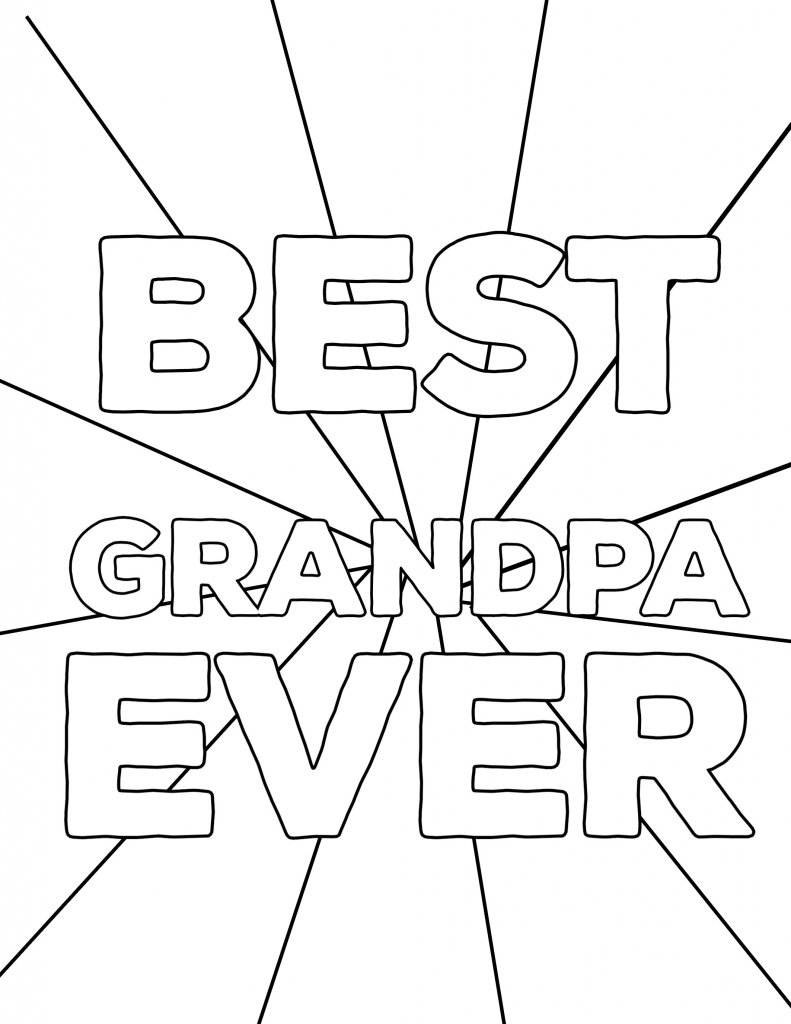 Happy Father's Day Coloring Pages Free Printables - Paper Trail Design | Free Printable Happy Fathers Day Grandpa Cards