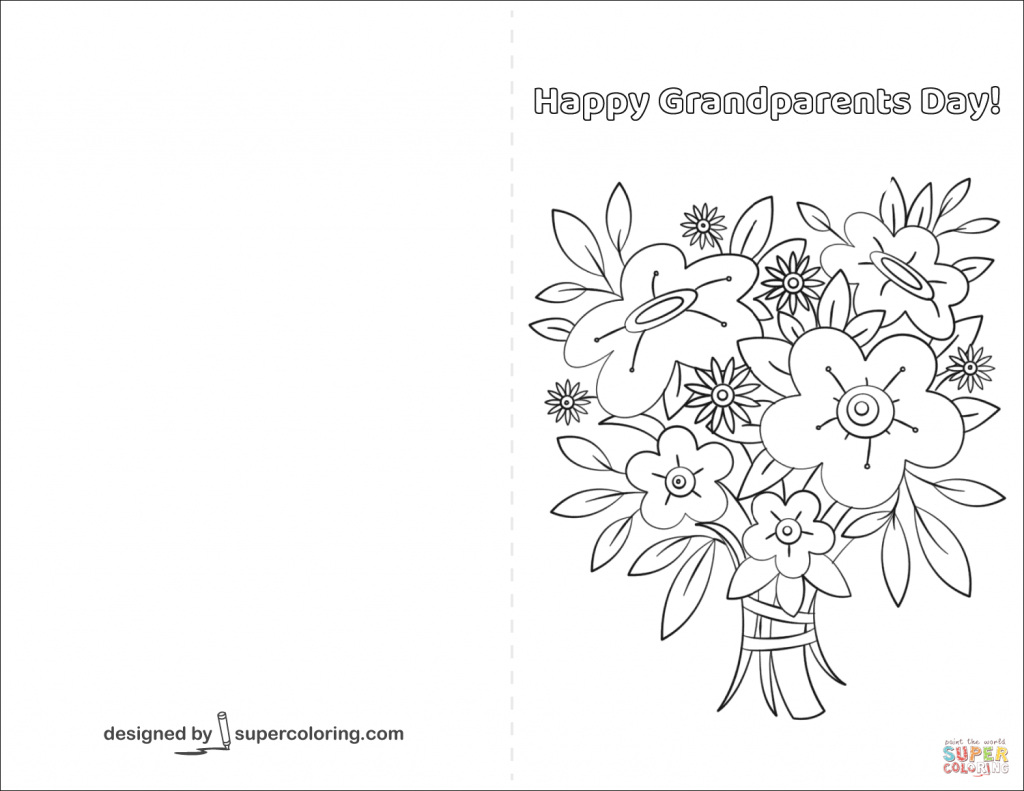 Breathtaking image with grandparents day cards printable