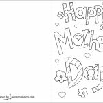 Happy Mother's Day Card Coloring Page | Free Printable Coloring Pages | Printable Mothers Day Cards To Color