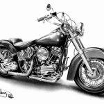Harley Davidson Motorcycles | Printable Harley Davidson Coloring | Harley Davidson Cards Printable