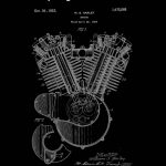 Harley Engine Patent 1923 Harley Davidson Print Motorbike | Etsy | Printable Harley Davidson Gift Cards