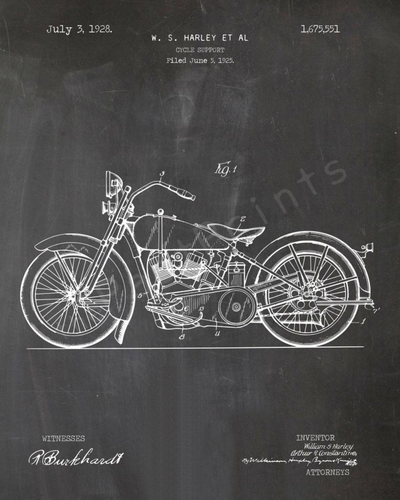 Harley Printable | Motorcycle | Harley Wall Art | Harley Art | Printable Harley Davidson Gift Cards