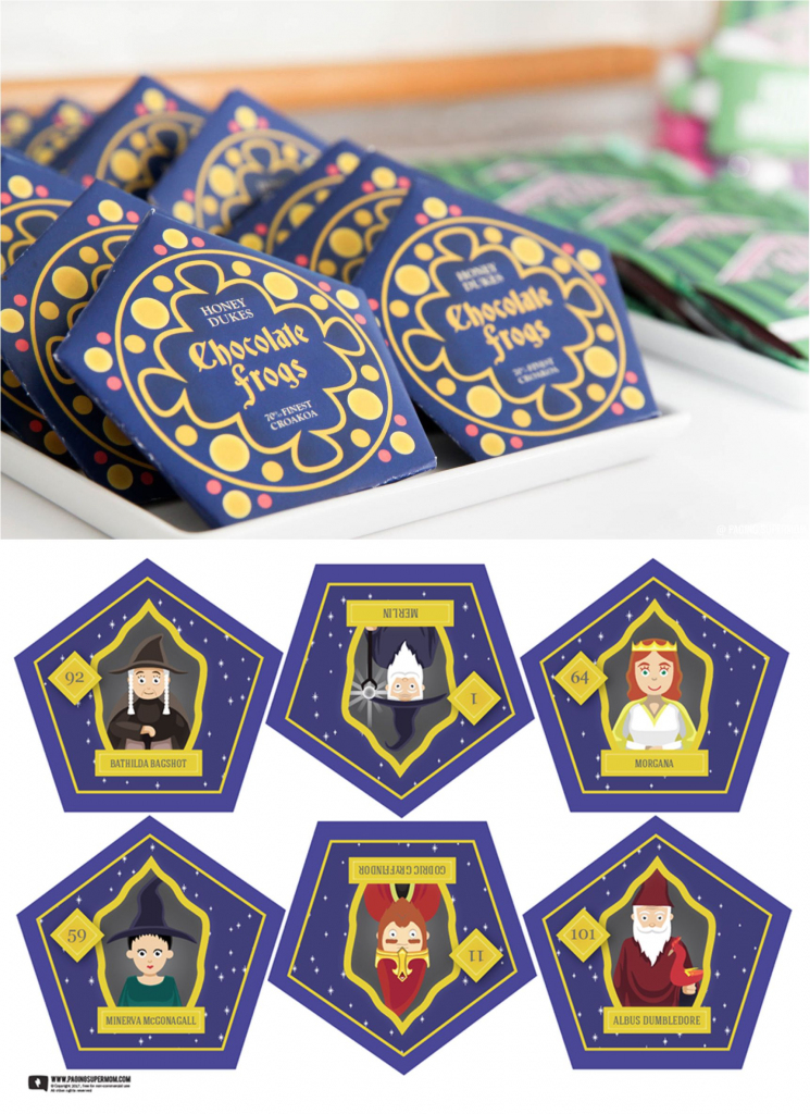 Harry Potter Chocolate Frogs - Free Printable Template For Diy | Harry Potter Chocolate Frog Cards Printable