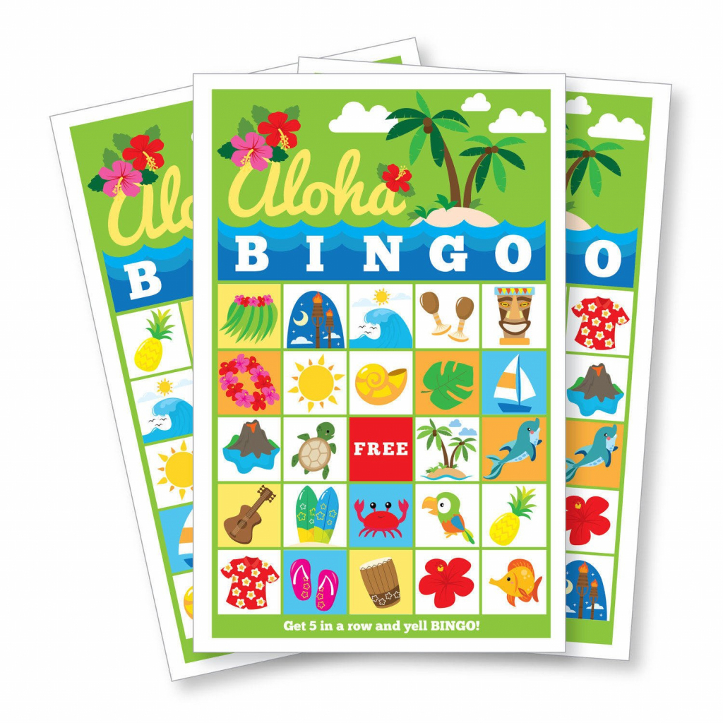 Hawaiian Bingo Game - Kid's Printable Bingo Game - Bingo Game For | Printable Hawaiian Bingo Cards