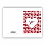 Heart Grid Valentine's Day Card   Printable In Free Lds Printables | Happy Valentines Day Cards Printable
