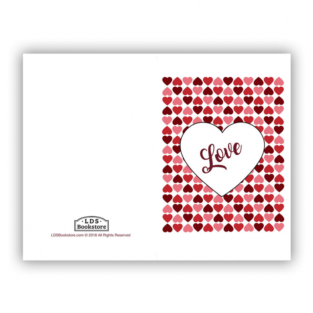 Heart Grid Valentine's Day Card - Printable In Free Lds Printables | Happy Valentines Day Cards Printable