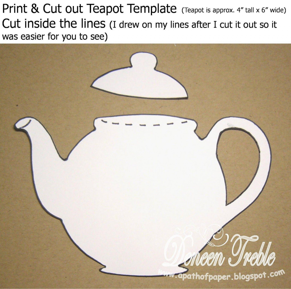 Hello And Welcome Here! This Week The Challenge At Top Tip Tuesday | Teapot Mother's Day Card Printable Template