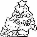 Hello Kitty Christmas Coloring Page   Free Printable Coloring Pages   Hello Kitty Christmas Cards Free Printables